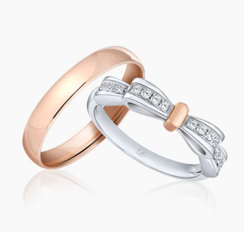 LVC noeud, wedding bands, wedding rings, love bands ring
