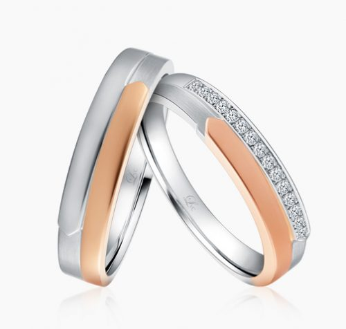 890, LVC Desirio, gold wedding rings singapore, wedding band set